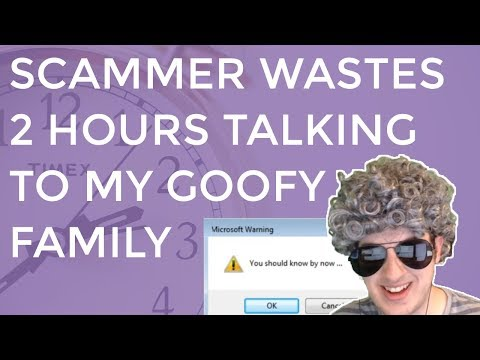 Clueless Scammer Wastes  2 Hours With My Goofy Family