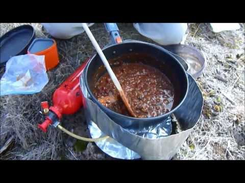 Cooking Dehydrated Chili On A MSR Whisperlite Stove
