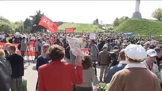 May Day Clashes in Kyiv: Communist Party leader gets a light dousing of kefir