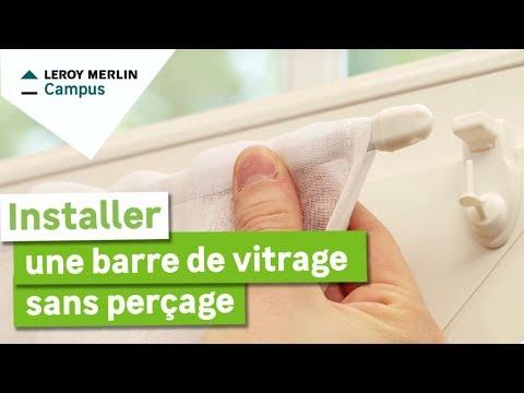 Comment Installer Une Barre De Vitrage Sans Perçage Leroy Merlin