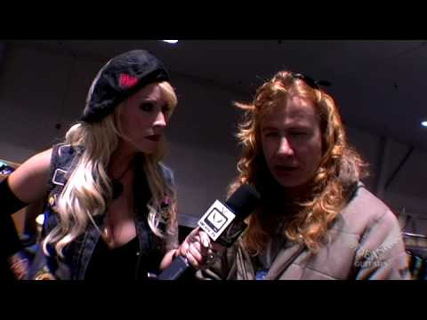 Dave Mustaine Of Megadeth At NAMM 2009 Dean Guitars