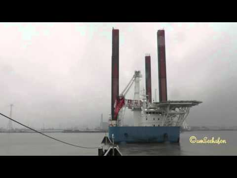 Wind Lift 1 WindLift DFIC IMO 9516686 Offshore Construction Jack Up Emden Germany