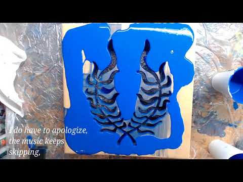 Making of Laurel Night Light with Scroll Saw Work and Acrylic Pour