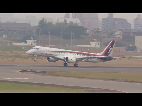 【MRJテスト中12】初の機首上げ滑走 MITSUBISHI REGIONAL JET