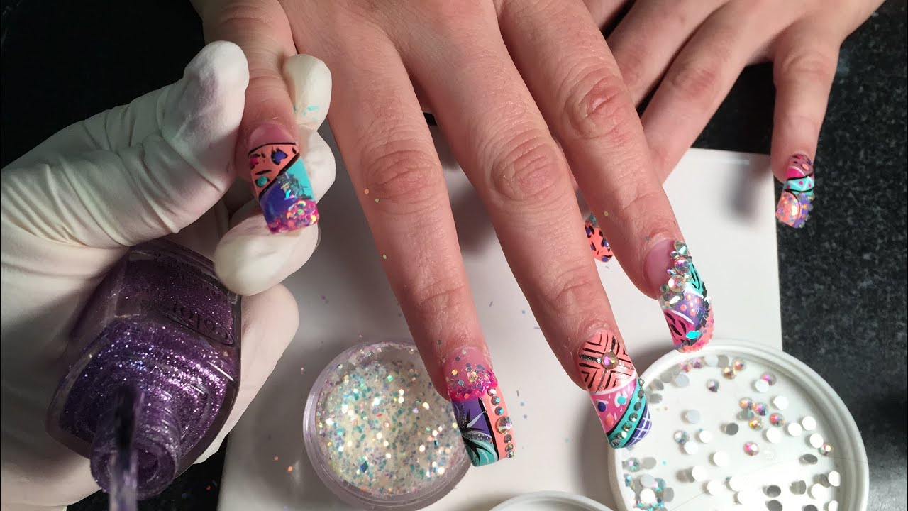 super long acrylic nails with exotic nails design 2015 part 2 youtube