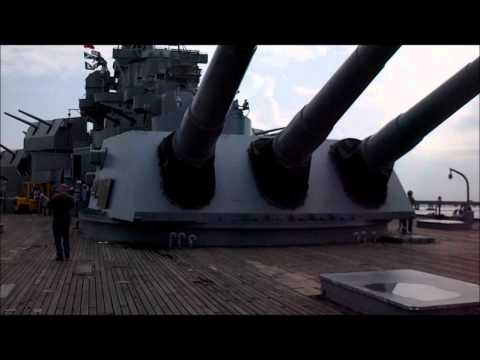 USS Alabama BB-60 Navy Ship Travel Video