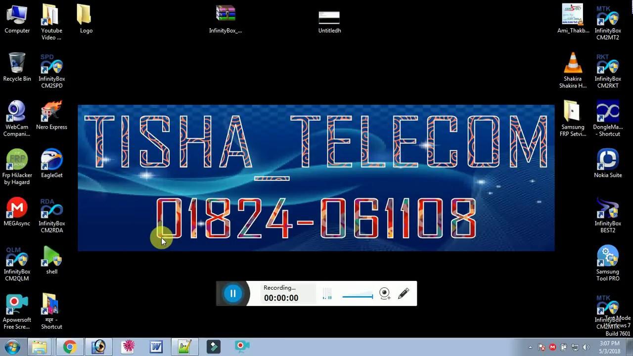 InfinityBox CM2 SCR SPD Cpu 6531E Read Write Format - tisha