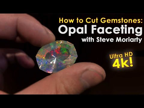 How to Cut Gemstones | Opal Faceting in 4K