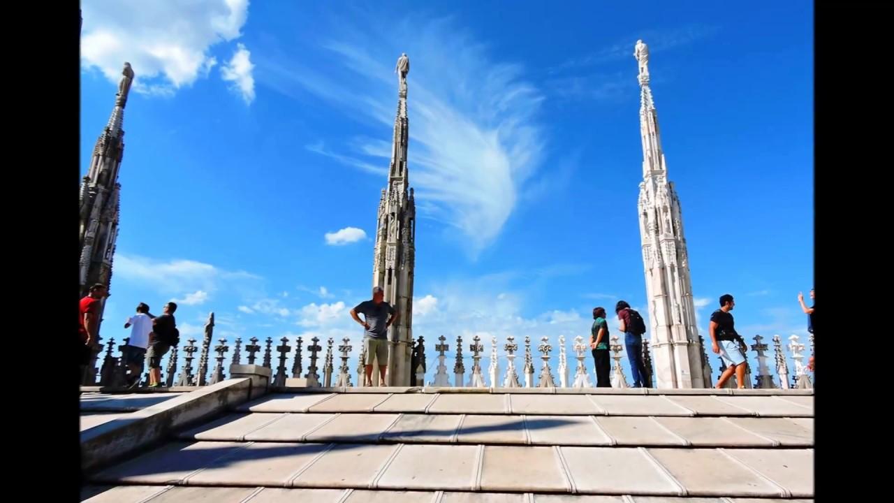 Milano Terrazza Del Duomo Di Milano Big Amazing City