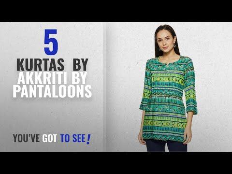 Top 10 Akkriti By Pantaloons Kurtas [2018]: Akkriti By Pantaloons Women's Straight Fit Kurta