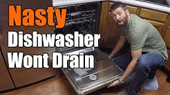 Easy Fix For Dishwasher That Wont Drain | THE HANDYMAN