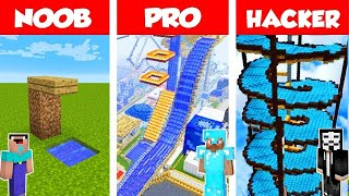 Minecraft Noob Vs Pro Vs Hacker Swimming Pool Challenge In Minecraft  Animation