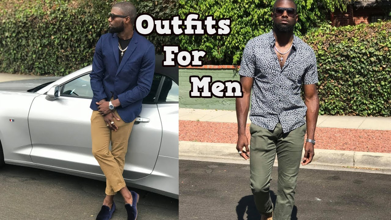 MEN'S OUTFIT INSPIRATION | Men's Fashion Lookbook  2018| 2 Easy Outfits 1