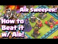 Clash Of Clans How To Beat The New Air Sweeper Defense Using Air Armies | Clash Of Clans Update