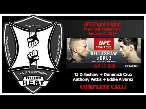 UFC Fight Night: Dillashaw vs Cruz / Pettis vs Alvarez Pre-Fight Media Call (complete / unedited)