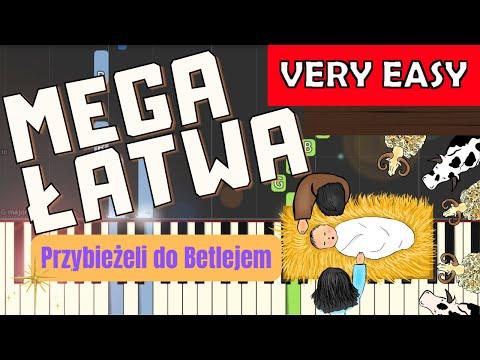 🎹 Przybieżeli do Betlejem - Piano Tutorial (MEGA ŁATWA wersja) 🎹