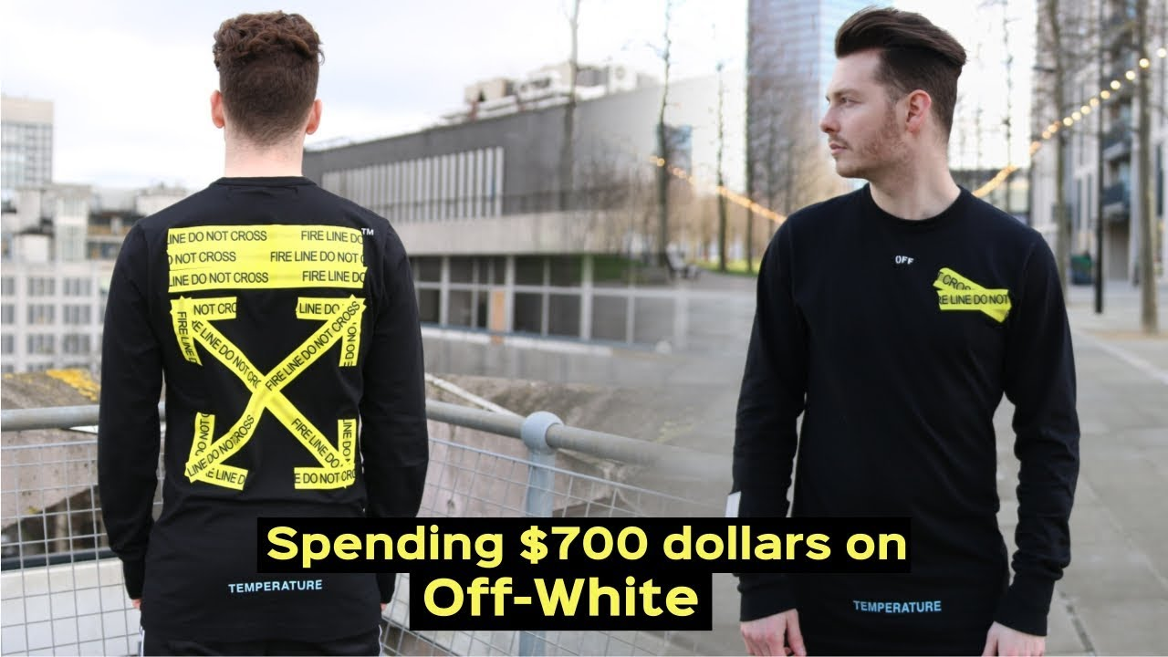 1d4fea7e6d77 OFF WHITE UNBOXING - MENS FASHION 2019 - COPPING THE FIRETAPE T SHIRT   HYPEBEAST
