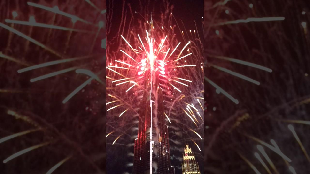 Download 2017 New Year Fireworks at Burj Khalifa, Dubai