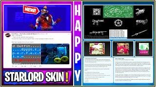 * NUEVO * Fortnite: Estirado / Revertir Información Liberado, Starlord Skin Set Leak, & Vault Voting System!