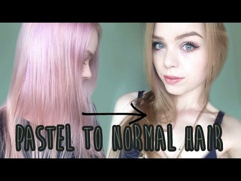 Dying Back To Natural Colors Pastel To Golden Blonde Youtube