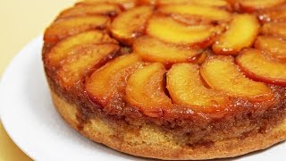 Peach Upside-Down Cake with Cognac Caramel