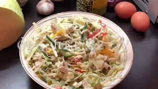 Салат с курицей и овощами: рецепт от Foodman.club