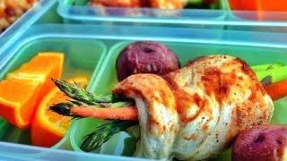 Fitness Meal Prep: Bbq Chicken Wrapped Asparagus (pollo Envuelto Esparagos Y Zanahorias)