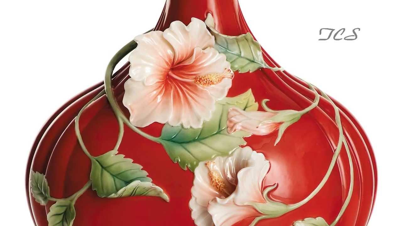 Franz porcelain island beauty hibiscus flower vase youtube reviewsmspy