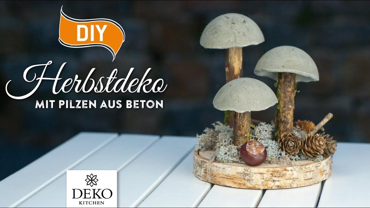Diy coole herbstdeko mit pilzen aus beton how to deko kitchen youtube - Deko kitchen herbstdeko ...