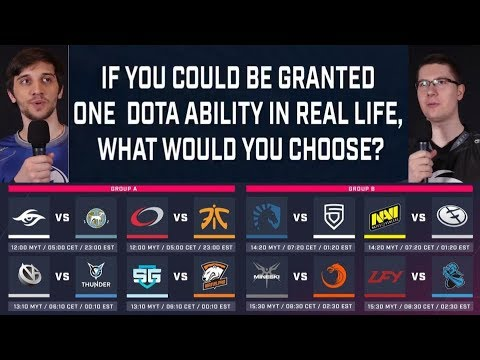 INTERVIEWING ESL ONE GENTING TEAMS !! DOTA ABILITY IN REAL LIFE!!