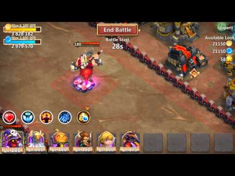 Castle Clash: Expert Dungeon 7 Last Portal No Spells