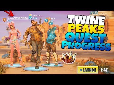 Twine Peaks QUEST Progress! FT. Immortal Teammate | Fortnite Save The World
