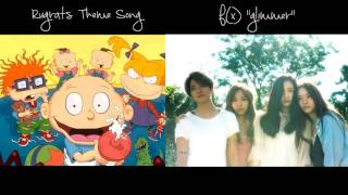 "f(x) ""Glitter"" x Rugrats Theme Song comparison"