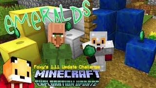 Minecraft 1.11 - MINING FOR EMERALDS  - Minecraft 1.11 Exploration Update Challange [5]