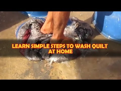 QUILT | How To Wash/Dry Clean At Home In Hindi | Using Industrial Vinegar | Radhe Radhe Drycleaners