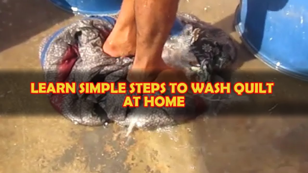 QUILT | How To Wash At Home In Hindi | Using Industrial Vinegar ... : how to wash quilt - Adamdwight.com