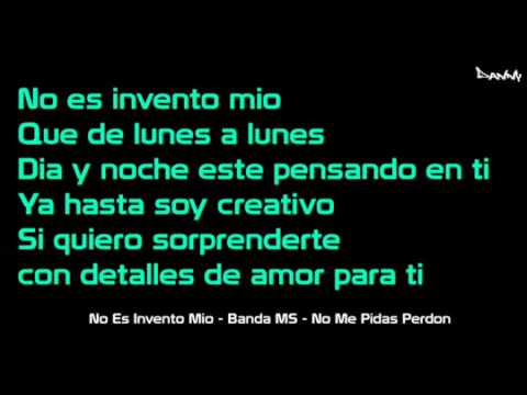 (Letra) 'No Es Invento Mio' - Banda MS (Completa)