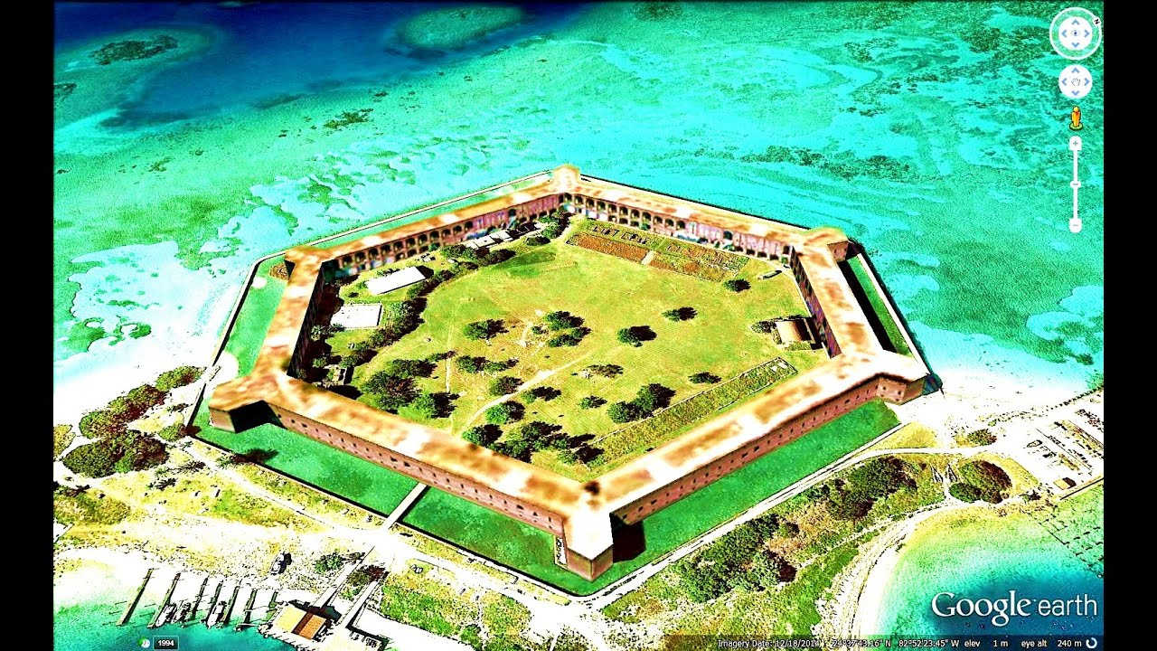 Historical places of florida state u s a in google earth for Historical sites in the usa