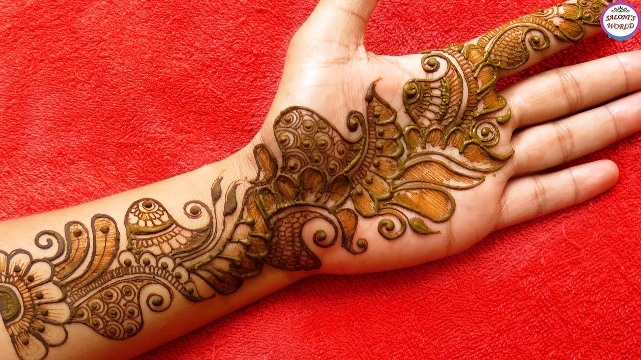 Latest Full Hand Arabic Mehndi Designs