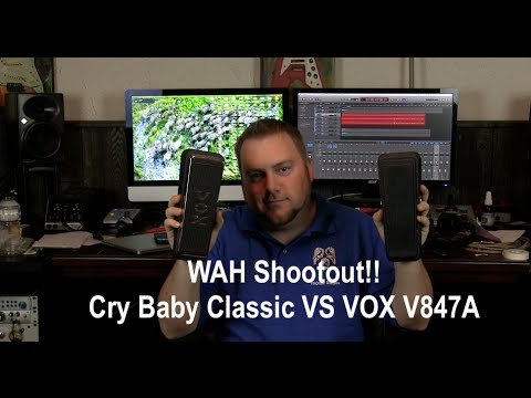 Wah Shootout!! Cry Baby Classic VS Vox V847A (Clean/Dirty)