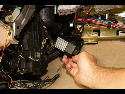 Replacing The Final Stage Unit (Blower Resistor) On A BMW
