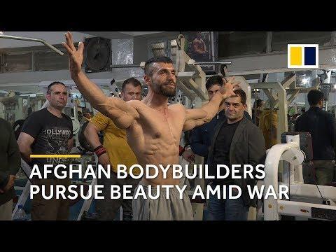 Afghan bodybuilders train in war-torn Kabul