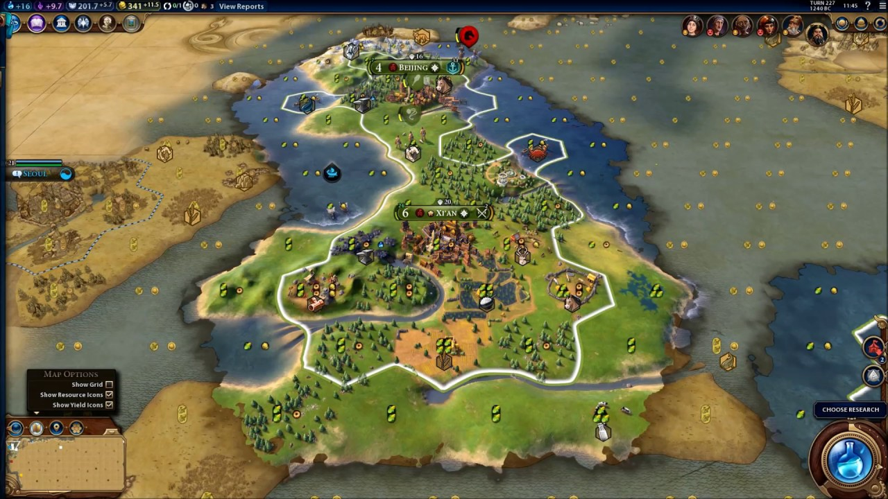 Civilization 6 Earth Map Huge Chinese Empire 5 Youtube