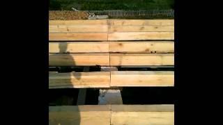 Армпояс, балки перекрытия и бассейн Intex(Дом из арболита, арболитовые блоки, арболит, где купить арболит, как построить дом,, 2014-05-15T17:27:14.000Z)