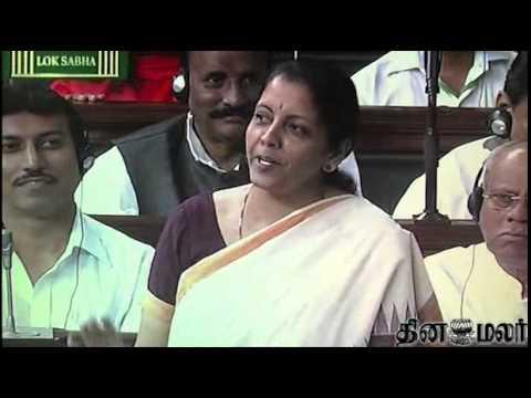 Nirmala Sitharaman replies in Tamil in Lok Sabha