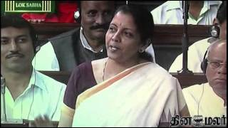 Nirmala Sitharaman replies in Tamil in Lok Sabha