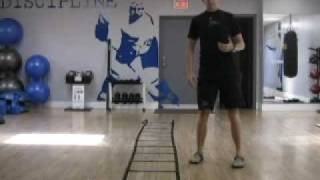 London, Ontario Hockey Training With The Agility Ladder - Crossovers