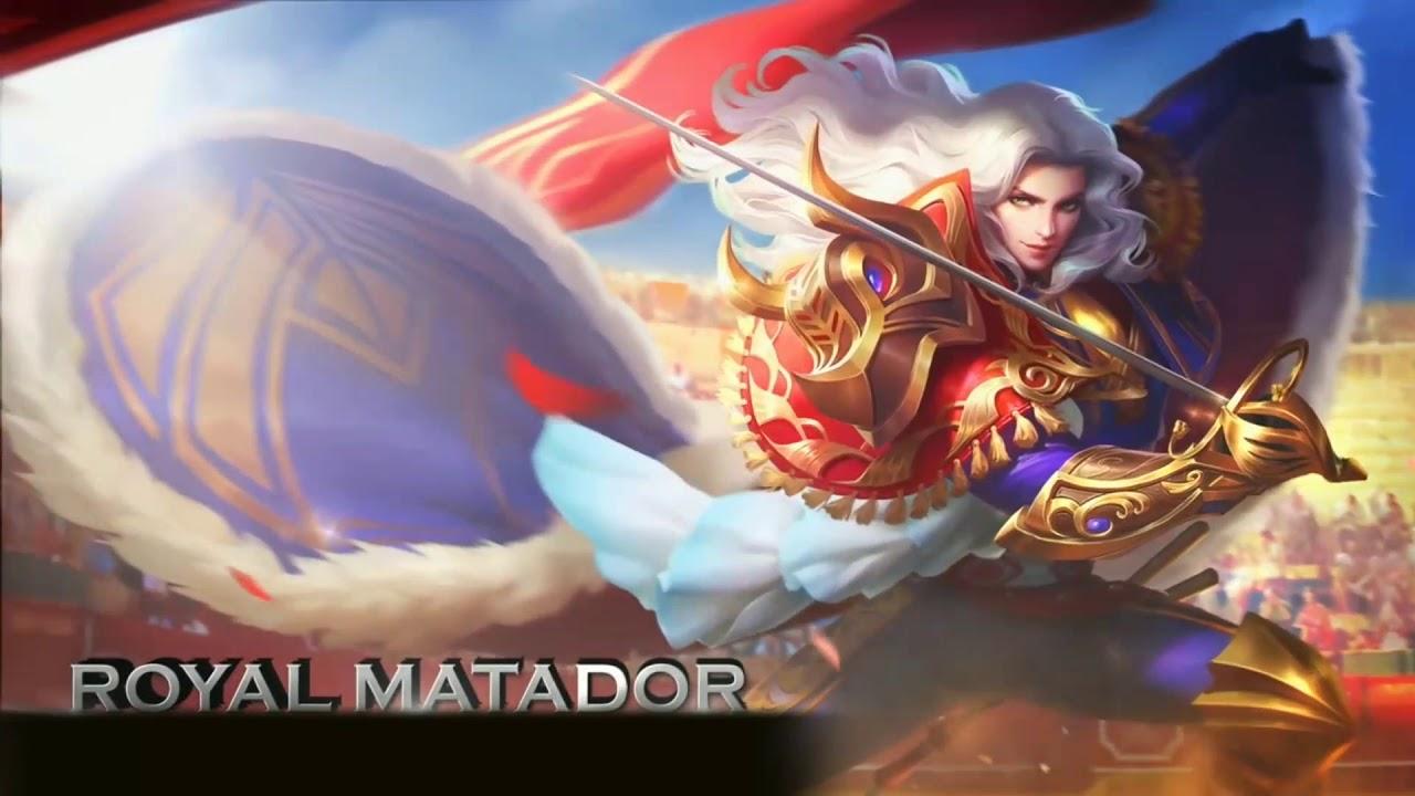 Lancelot The Royal Matador Skin Mobile Legends Moving Wallpaper Mobile Legends Live Wallpaper Youtube
