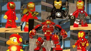 ALL Iron Man Suits in LEGO MARVEL Superheroes 2!