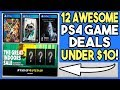12 AWESOME PS4 GAME DEALS UNDER $10 - PSN GREAT INDOORS SALE!